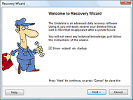 The Undelete Data Recovery Software screenshot